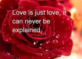 Love inexplainable